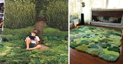 moss rug unique wool rugs that bring moss and into your home bored panda