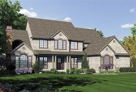 Northeastern Shingle Style Home Plan 69457am | northeastern shingle style home plan 69457am 1st floor