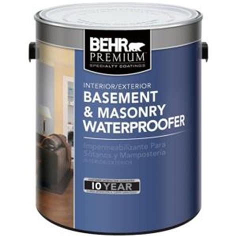 behr basement and masonry waterproofer behr premium 1 gal basement and masonry waterproofer