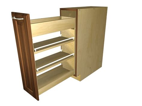 Tall Kitchen Cabinet by Pullout Spice Rack Cabinet