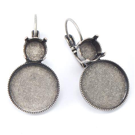 10 pairs 39ss 16mm rivoli flat back earring base for