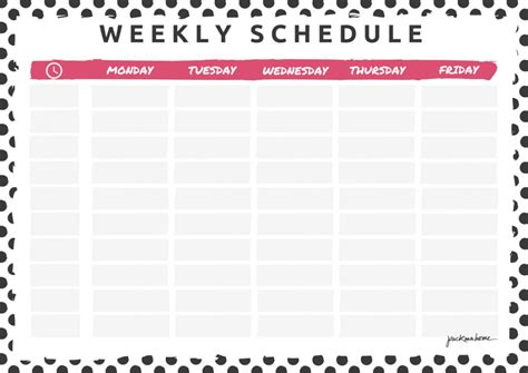 Work Schedule Template Pdf Hunecompany Com Schedule Template Pdf