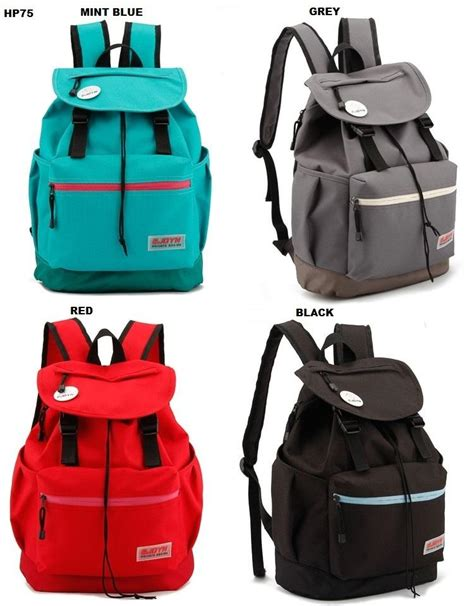 Br7068 Ransel Wanita Backpack Import Korea Leather Kuliah Model Unik model baru korean style backpack new best buy indonesia