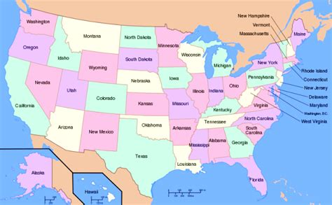 usa map with states and cities quiz list of american states capitals of us states