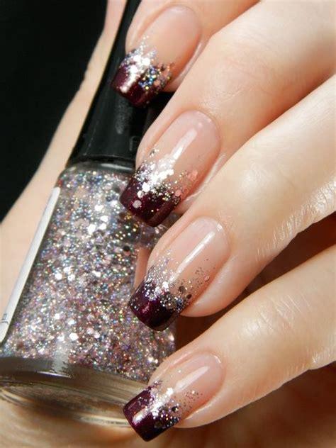 fun  fabulous   top  glitter ombre nails