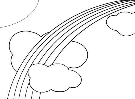 easy rainbow coloring page coloring page of simple rainbow renee pinterest