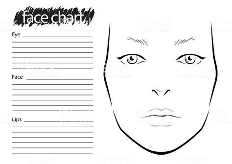 Face Chart Makeup Artist Blank Template Stock Vector Art More Images Of Adult 587517190 Istock Makeup Chart Template