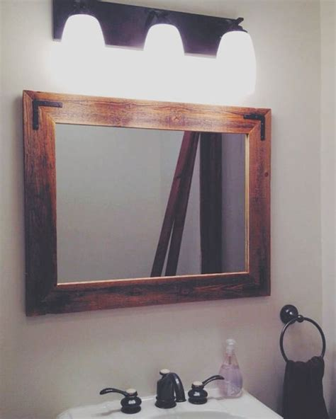 rustic vanity mirrors for bathroom 24x30 reclaimed wood bathroom mirror rustic modern home