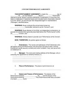 concert performance contract