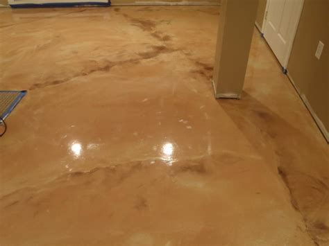 metallic epoxy basement floor kote decorative