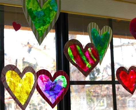 How To Make Stained Glass With Wax Paper - 9 best images about v day on tissue paper
