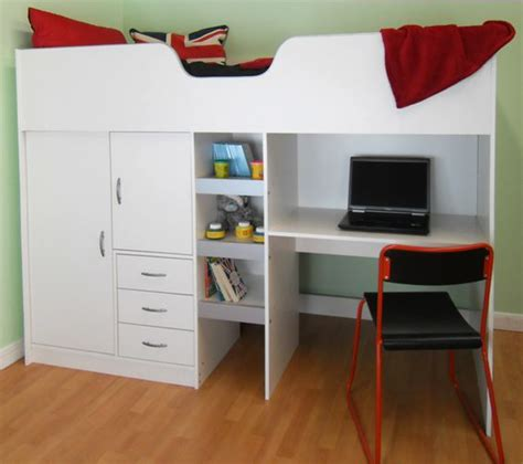 Cabin Bed With Wardrobe And Drawers by Cambridge High Sleeper Cabin Childrens Wardrobe Storage