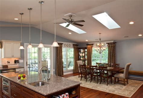 open kitchen living dining room floor plans new open floor plan addition traditional living room