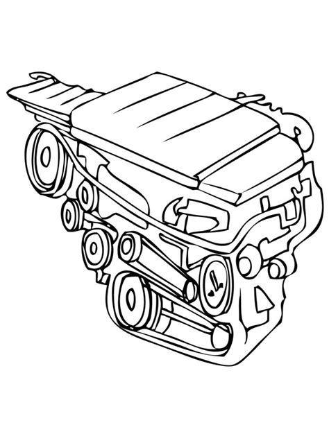 Car Engine Clip Art Cliparts Co Engine Colouring Pages