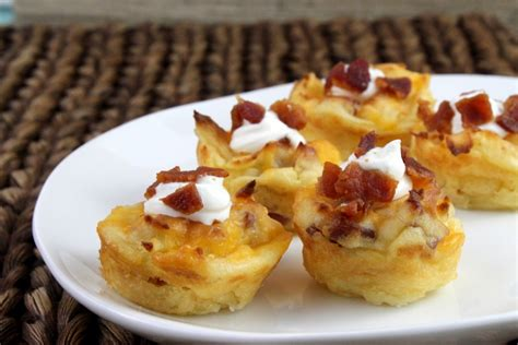 loaded mashed potatoes appetizer bites   creative