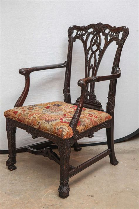 Oversized Armchairs For Sale Pair Of 19th Century Mahogany Oversized Armchairs