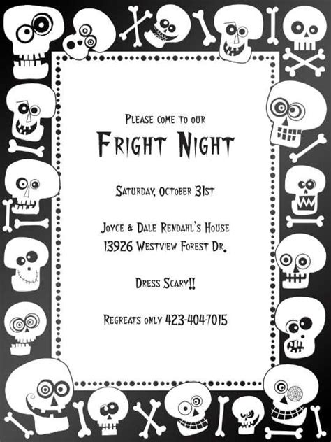 free printable halloween invitations black white halloween paper