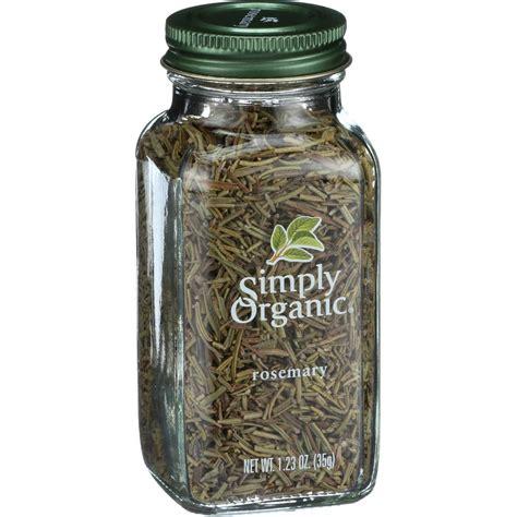 Simply Organic Rosemary 1 23 Oz simply organic rosemary leaf organic whole 1 23 oz
