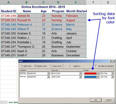 excel sort by color how to sort by color in excel