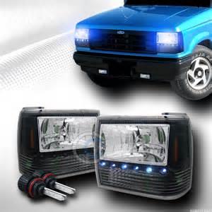 1990 Ford Ranger Headlights 8000k Hid Bi Xenon Blk Led Lights Ls Signal