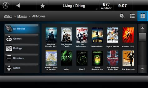 control4 home automation system for xbmc