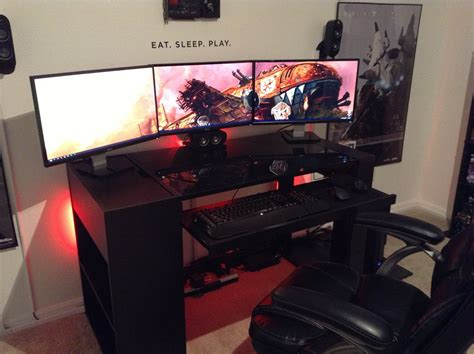 cool room setups cool wall text gaming room dream setup pinterest