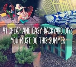 Cheap And Easy Backyard Ideas 41 Cheap Easy Backyard Diy Projects Survival