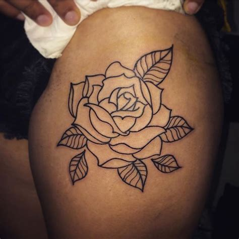 simple rose tattoos on thigh best 25 outline ideas on simple