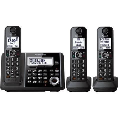 panasonic cordless phone and answering machine with 3