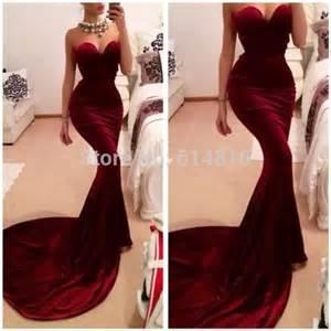 unique designer burgundy mermaid prom dresses women long