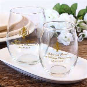 25th Birthday Party Decoration Ideas Personalized Bridal Stemless Wine Glasses