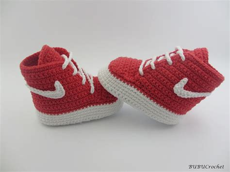 pattern crochet nike booties super stylish nike inspired crochet baby booties