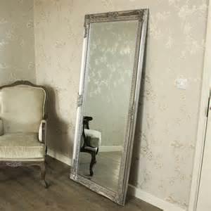 shabby chic floor mirror large silver length wall floor mirror shabby