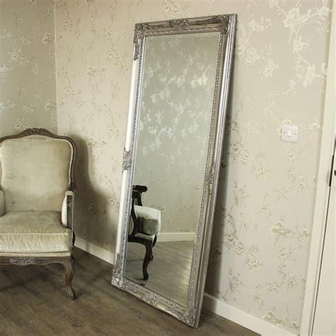 extra large silver full length wall floor mirror shabby vintage chic bedroom ebay