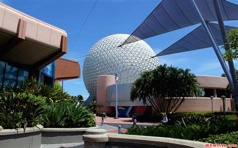 disney epcot wallpaper spaceship earth view of epcot s signature attraction from