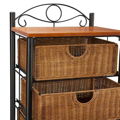5 Drawer Wicker Storage by Southern Enterprises 5 Drawer Iron Wicker Storage Unit