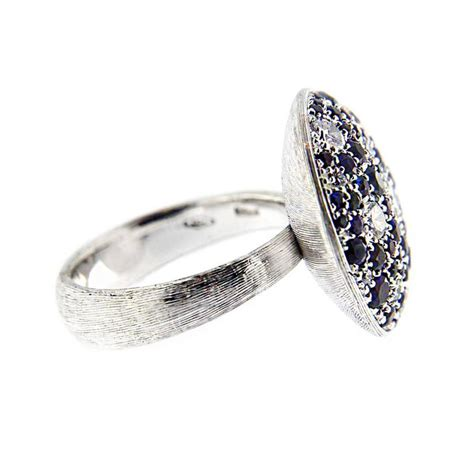 jona blue sapphire pave white gold ring for sale