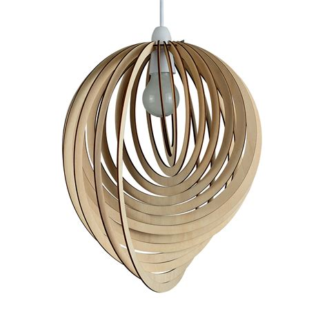 Contemporary Pendant Ceiling Lights Modern Wooden Droplet Ceiling Pendant Light Shade Lounge Lshade Lighting Home Ebay