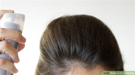 how to style the back of the comb ober how to back comb 10 steps with pictures wikihow