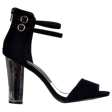onlineshoe peep toe mid heels high back strappy sandals