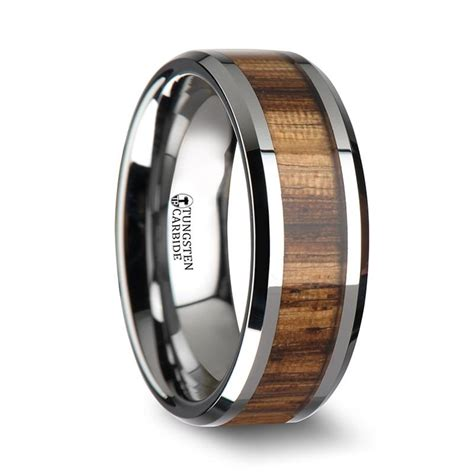 Wedding Bands Hq by Gabon Zebra Wood Inlay Tungsten Wedding Band Wedding