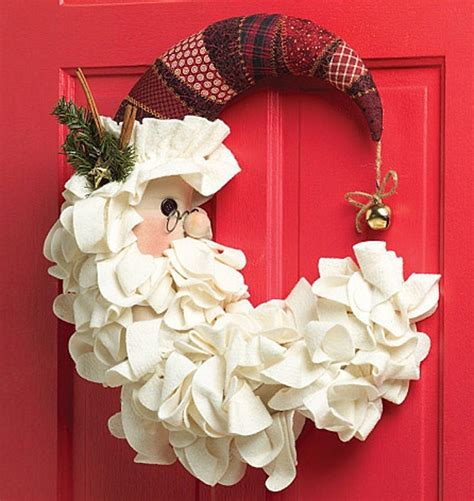 Santa Door Decoration by Door Wreath Decoration On Day Door