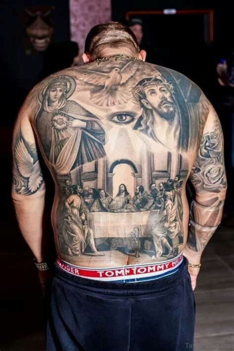 best christian tattoos designs 54 graceful religious tattoos on back