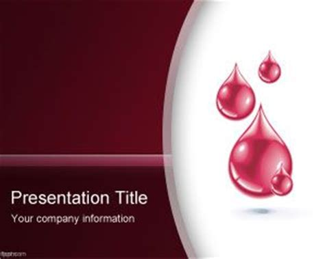 ppt templates free download blood free blood powerpoint template with red blood drops