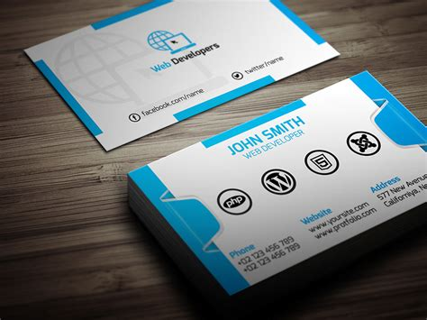 Business Card Template Developer by 25 Web Developer Business Card Psd Templates