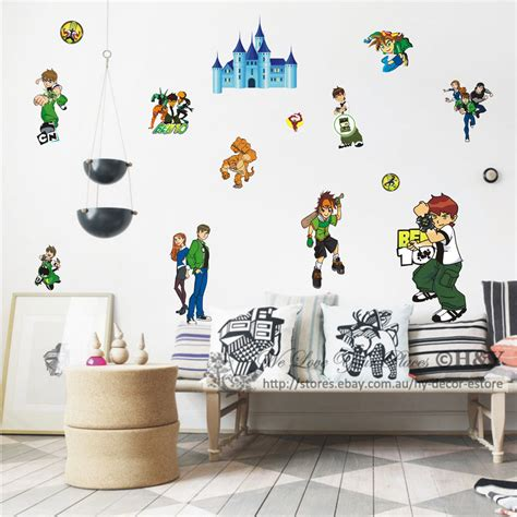 removable wall stickers for baby room new ben 10 removable wall stickers nursery baby decor decal boys diy ii ebay