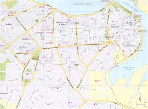 printable map havana havana city map havana cuba mappery