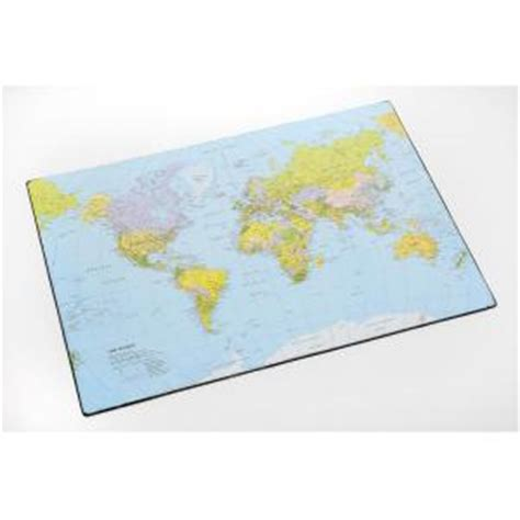 World Desk Mat by Cumberland Desk Mat Map Of The World 435x620mm Staples