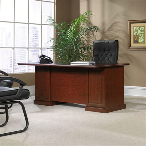 Sauder Traditional L Shaped Desk Sauder Heritage Hill Traditional Executive Desk With File Storage