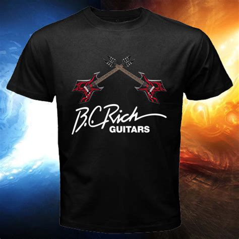 Tshirt B C Rich Guitars new bc rich guitars logo beast mens black t shirt